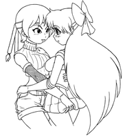 Yuffie x Mina 2 by X-Cross