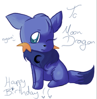 MoonDragon Bday prezzie :D by VelocityRiot