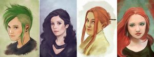Commission portrait set by Gregory-Welter