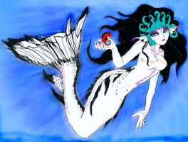 AomiArmster as a Mermaid by youkai-hime