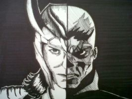 Loki and Red Skull by MadaraAssassin