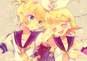 Rin and Len :3 by Alina-sempai