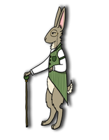 Happy Dapper Rabbit Day! by GoWaterTribe
