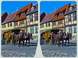 Stagecoach of Quedlinburg 3D ::: HDR Cross-Eye ::: by zour