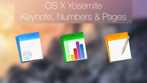 BAM!Graphics iWork Custom OS X Yosemite icons by BAMgraphics