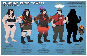 2015 Emzie Towers Reference Sheet (+ Mishka!) by EmzieTowers