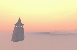 The tower on the sea . I by TalieTramontane