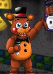 FNAF: Toy Freddy in the hallway by Maramasama