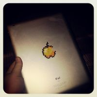 Golden Apple IPad by Fallnangel7