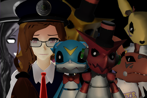 UDATED Five Nights at Shoutmon's DL models UDATED by Clonesaiga