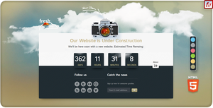 fresh Parallax Under Construction Countdown by version-four