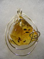 custom columbian amber simple pendant by BacktoEarthCreations