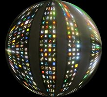 Lite-Brite Maxtrix Sphere by Windthin
