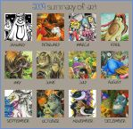 Art Summary 2009 by Merinid-DE