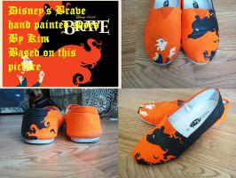 Hand painted Brave shoes by Webington