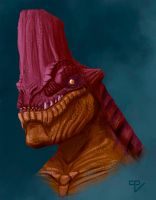 Red Dragon Bust by RiptorCPV