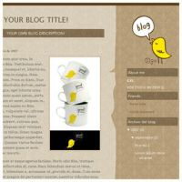 Birdie - Free Blogger Template by arwenita