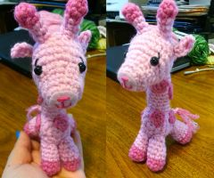 Wee Little Pink Giraffe Amigurumi Doll by Spudsstitches