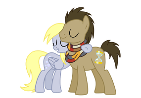 Derpy and Hooves hugs by sweetie-madiselle