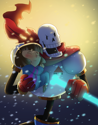undertale_I will be your knight by pink-ninja