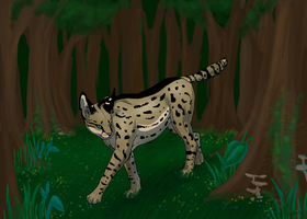 On the Prowl - commission by Wolf-Goddess13