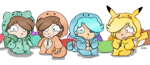 Gravity Falls - Pokemon Sleepover by Celestabell