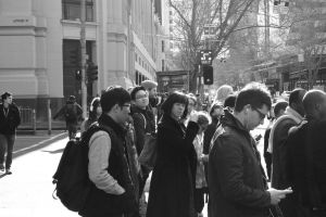 waiting to cross, Latrobe St by thespook