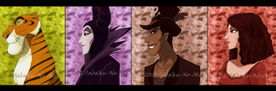 some Disney villains pt2 by The-PirateQueen