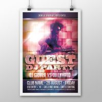 Guest Dj Party Flyer PSD Template by ddblu