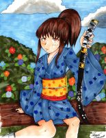 OC: the loneliness of the samurai - Fuko Arakawa by SaraMangaka