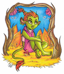 Timberly the Tiny Troll by The-Greys