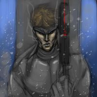 Solid Snake cintiq sketch by mechaguy