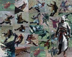 Assassin's Collage LARGER by Bugabooloo