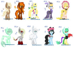 My ponies made with base 3 by Sarahostervig