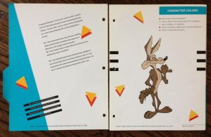Wile E Coyote Color Chart by guibor