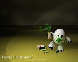 suicidal dilemma 2 - wallpaper by iqbalbaskara