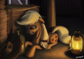 Sadness Applejack by Sa1ntMax