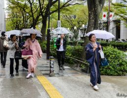 Tradition under rain in Tokyo by Rikitza