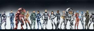 MASS EFFECT STARS by vitorzago