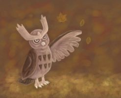 Autumn - Noctowl by Spigu