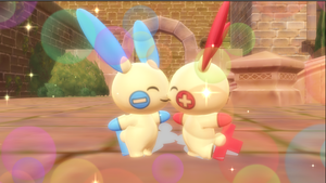 Electric love Plusle x Minun by Hack-Girl