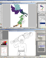 Skyward Sword Clash WIP by BLUEamnesiac
