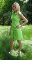 Lime green dress by Blue-Sky-Complex