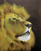 Lion Portrait: Simba by louise-rabey
