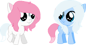 RQ: Candy and Golden's twin foals by Starlollipop