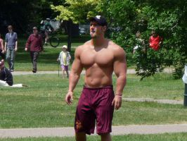 Shirtless Football Player by Stonepiler