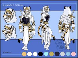 Tigress Char Sheet Commission by lady-cybercat