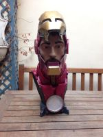 Iron Man's Bust by HovigArt