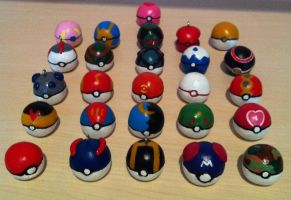 Pokeballs by Schmop