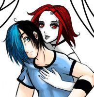An Odd Couple. by GothGirl-EmoBoy